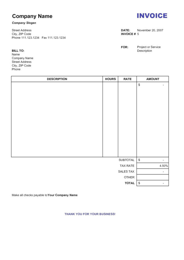 Medical Invoice Template Free Download | Templaterecords With Medical Invoice Template
