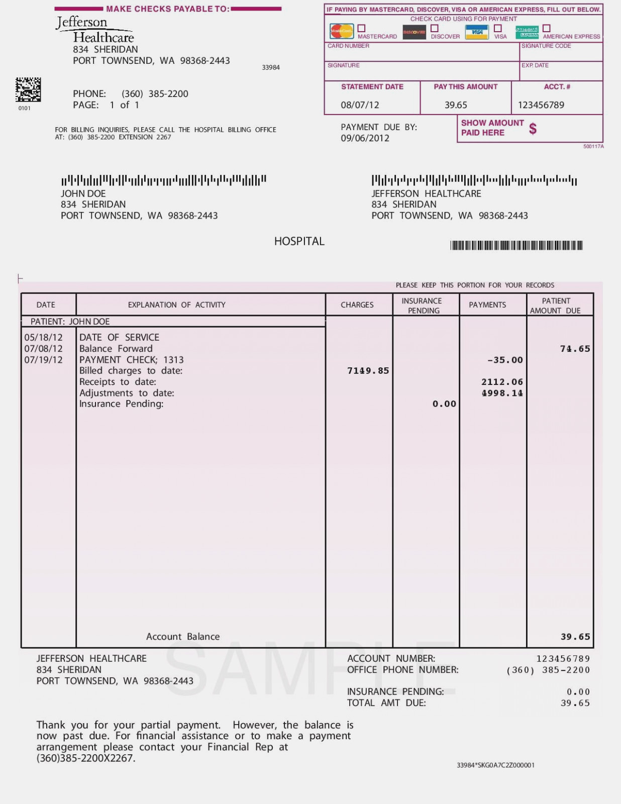 Medical Invoice Template | My Spreadsheet Templates – Medical Bill In Medical Invoice Template