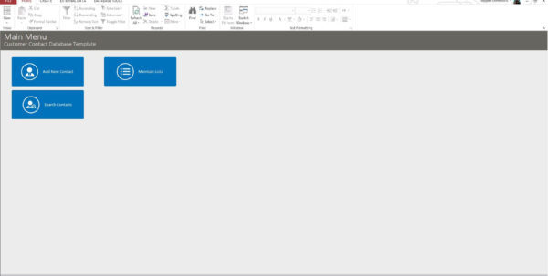 Microsoft Access Contact Database Template For Customer Database Template Access