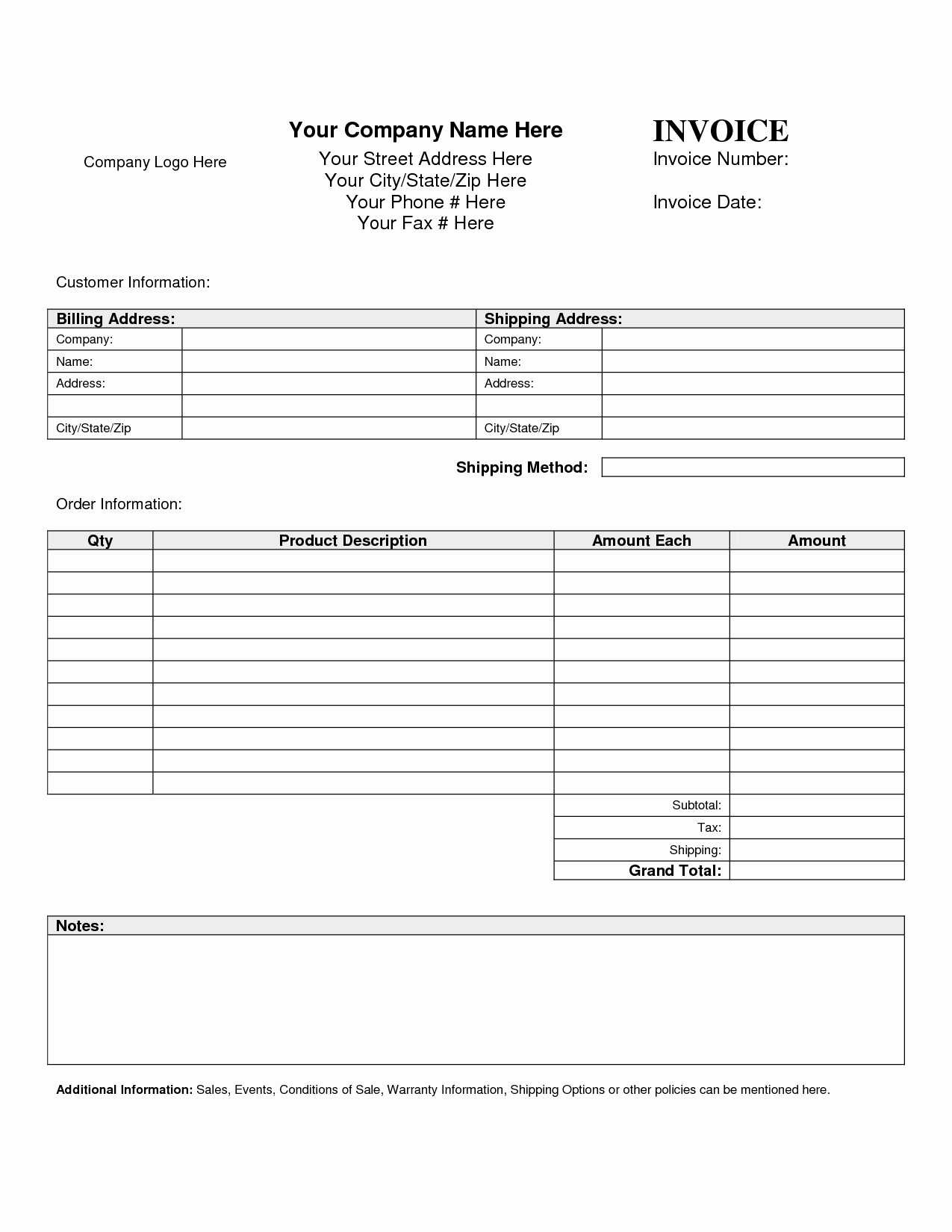Microsoft Excel Invoice Template – Spreadsheet Collections With Microsoft Excel Invoice Template