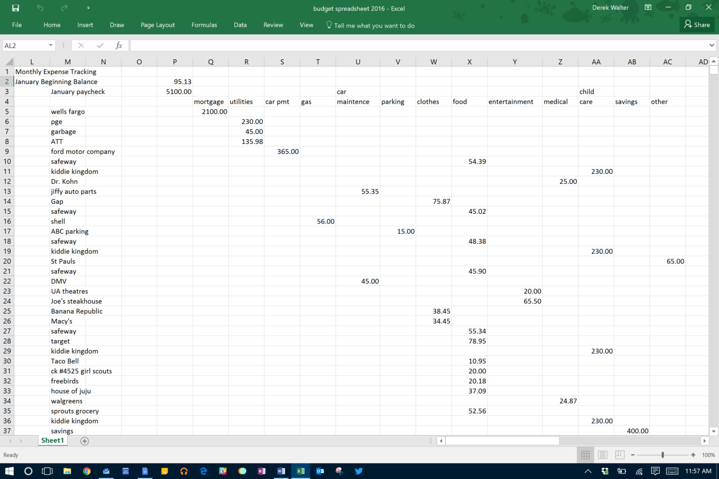 Microsoft Excel | The Spreadsheet Takes Minutes To Maintain | It Pro Intended For How To Track Expenses In Excel