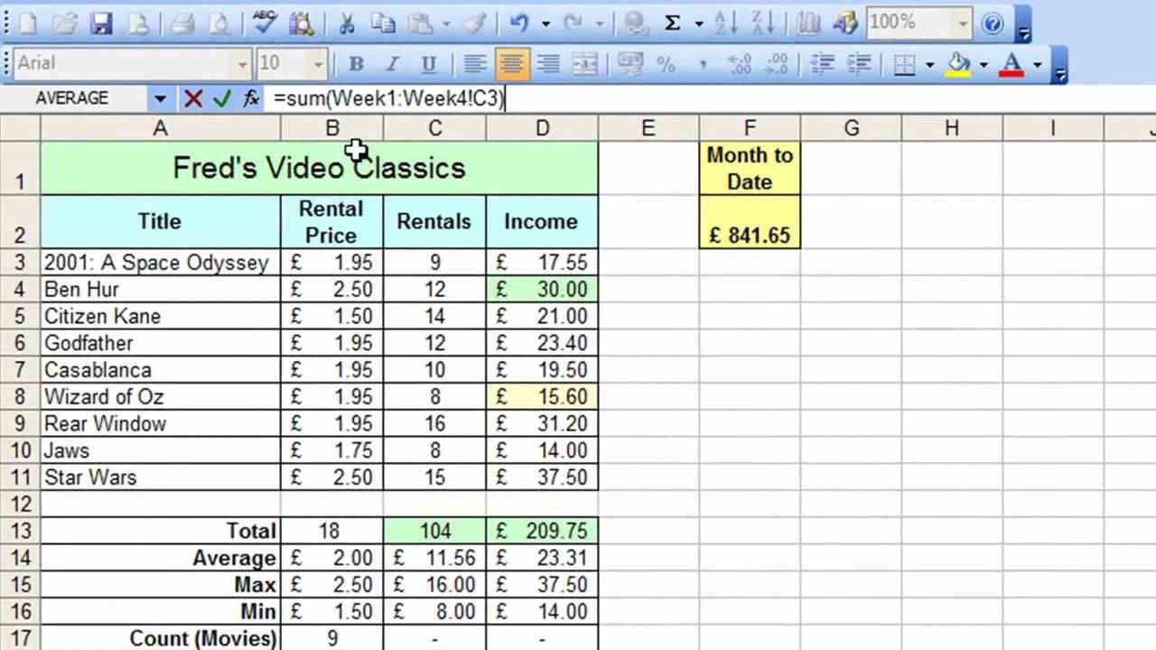 Microsoft Excel Training And Introduction To Spreadsheet Course To In Excel Spreadsheet Courses