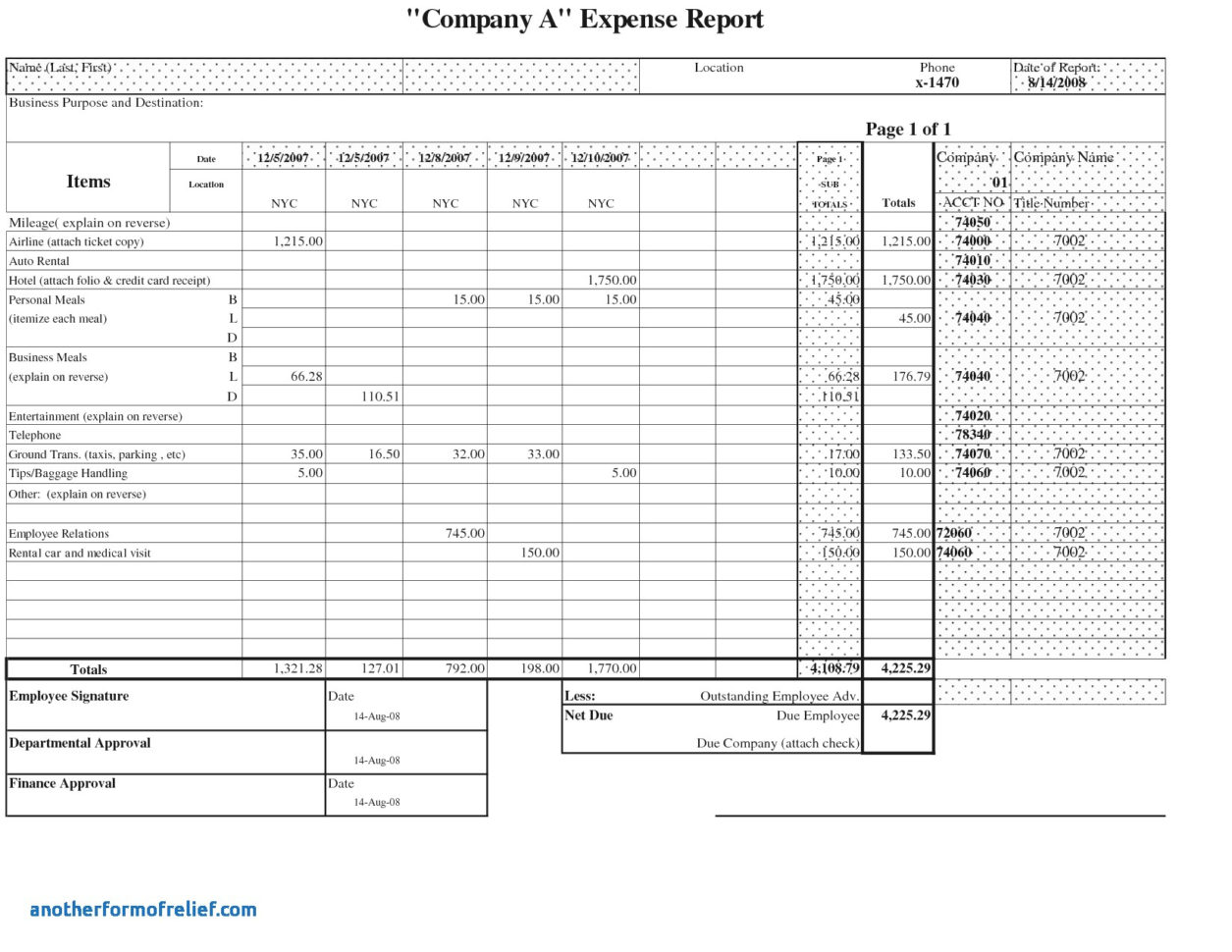 Microsoft Word Expense Report Template New Expense Report Template Inside Microsoft Expense Report Template