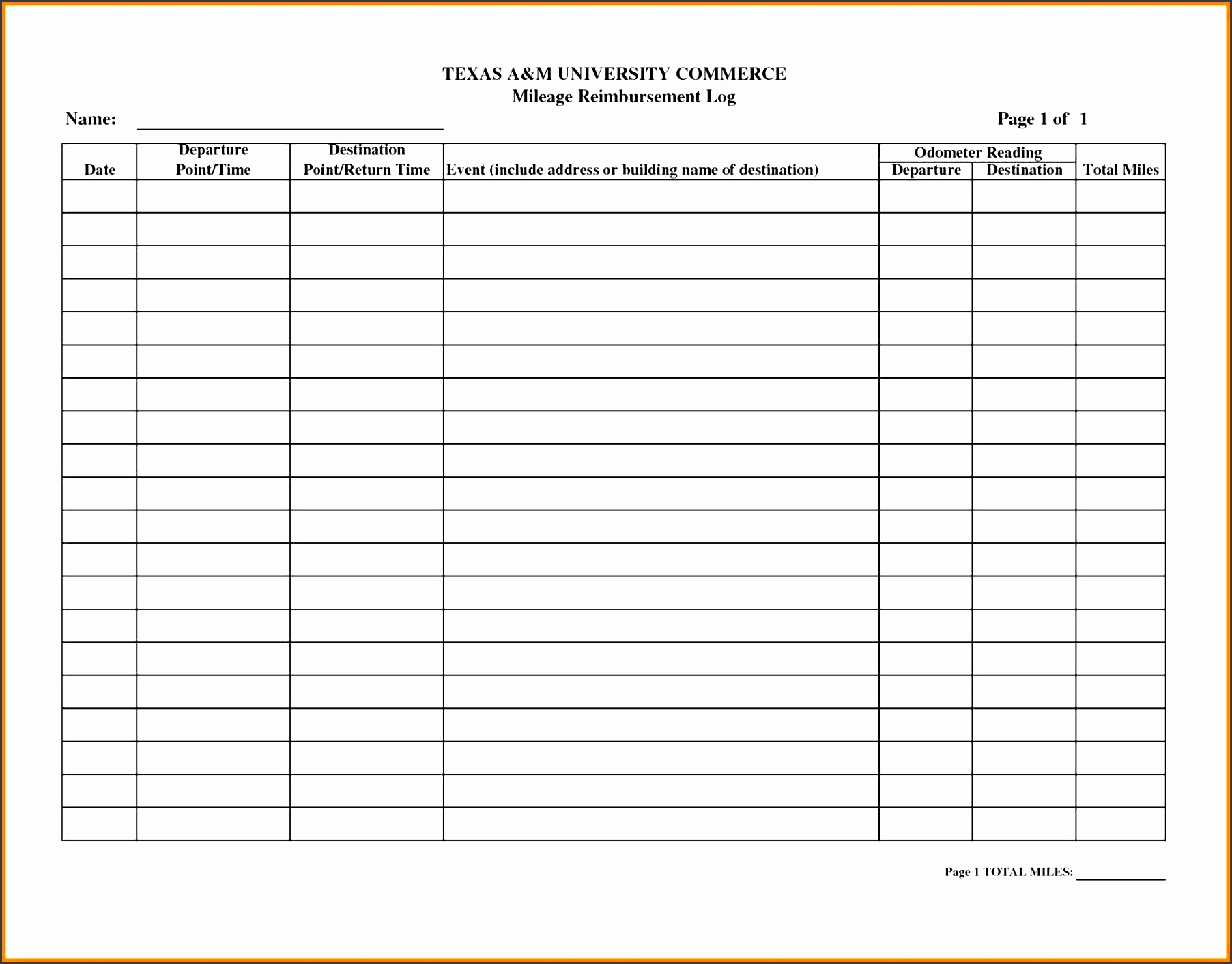 Mileage Spreadsheet For Irs Best Of Free Irs Mileage Log Template within Mileage Spreadsheet Free