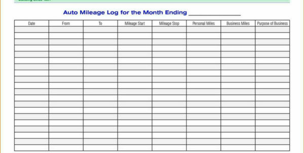 Mileage Spreadsheet Free As Spreadsheet Software Debt Payoff With Mileage Spreadsheet Free