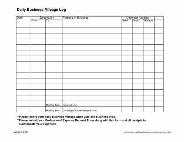 Mileage Tracker Spreadsheet Unique Free Mileage Log Spreadsheet And For Mileage Spreadsheet Free