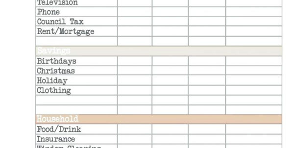 Monthly Bills Spreadsheet Templates Personal Budget Excel Examples Intended For Bills Spreadsheet Template