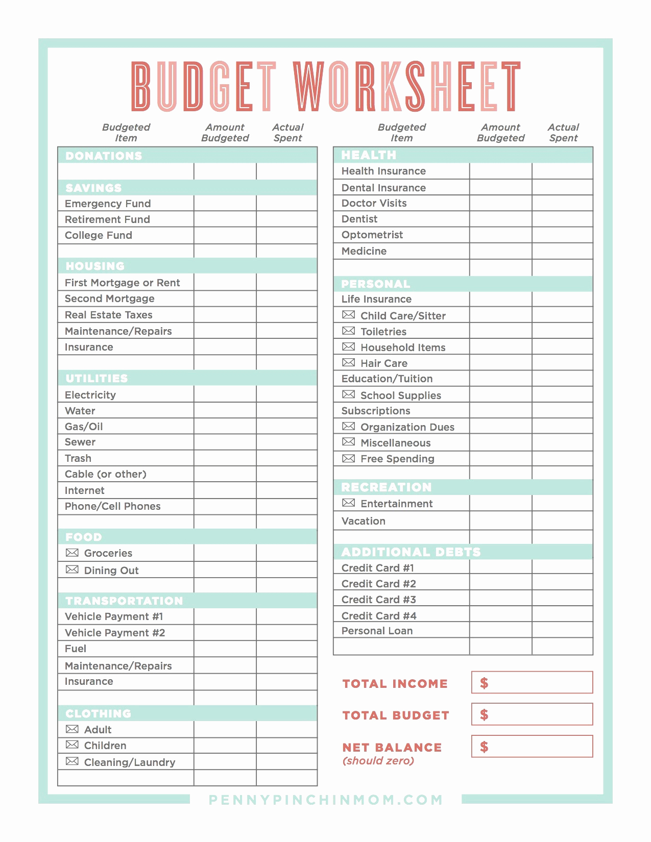 Monthly Budget Worksheet Dave Ramsey Lovely Bud Worksheet Dave Within Get Out Of Debt Budget Spreadsheet