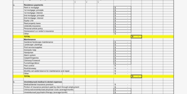Monthly Business Expense Template Expenses Spreadsheet Sample With Inside Example Of Business Expenses Spreadsheet