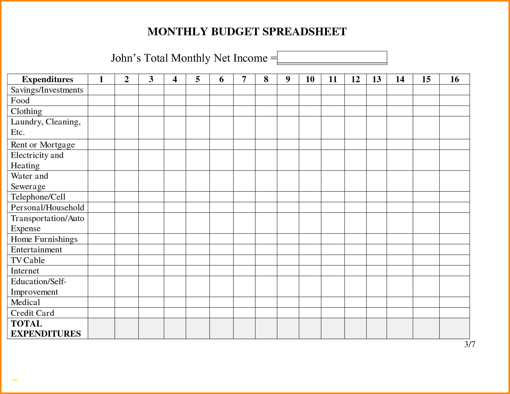 Monthly Business Expense Template Inspirational In E And Expenses Within Monthly Expenses Spreadsheet For Small Business