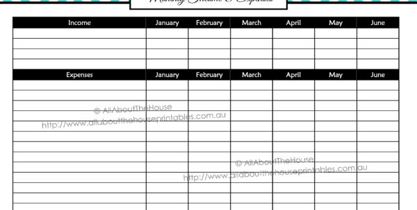 Monthly Expense Calendar   Durun.ugrasgrup Throughout Personal Expense Tracking Spreadsheet Template