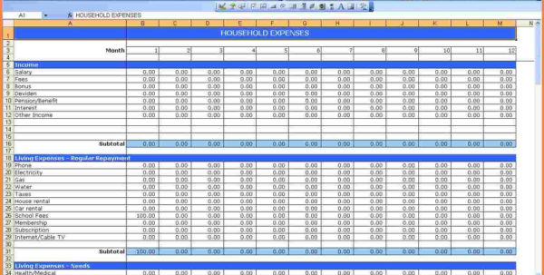 Monthly Expense Spreadsheet 2018 Online Spreadsheet Dave Ramsey For Monthly Expense Spreadsheet