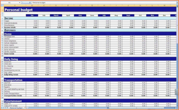 Monthly Home Expenses Spreadsheet Inspiration – Firmaconta With Home Accounting Spreadsheet For Excel