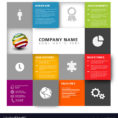 Mosaic Company Profile Template Royalty Free Vector Image Throughout Company Templates