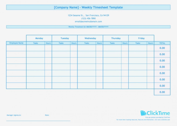 Multiple Employee Timesheet Template Time Tracking Spreadsheet And In Employee Timesheet Spreadsheet