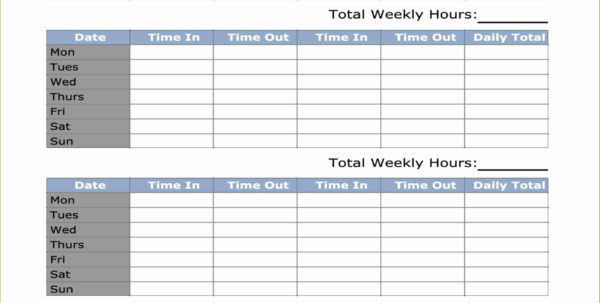 Multiple Employee Weekly Timesheet Template   Durun.ugrasgrup With Employee Timesheet Template