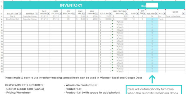 My Simple And Easy Method For Tracking Product Inventory Using Excel In Retail Inventory Spreadsheet