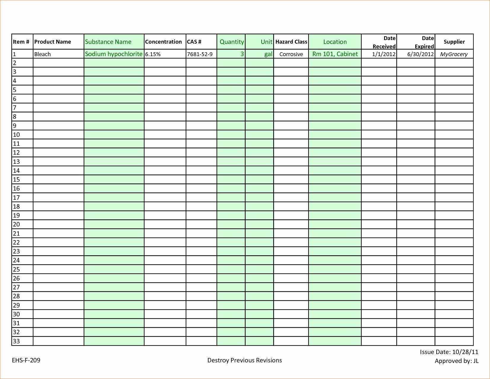 Nail Polish Inventory Spreadsheet   Twables.site And Clothing Inventory Spreadsheet
