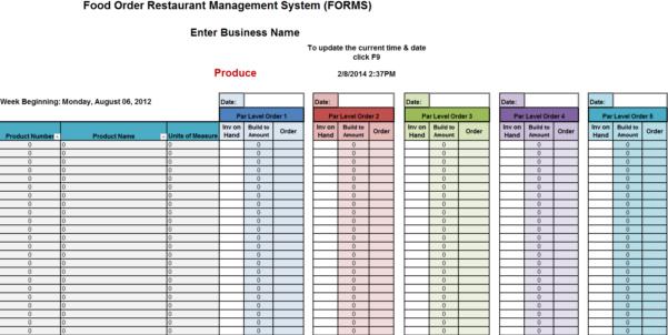 New Cumberland, Pennsylvania   Restaurant Consultants, Restaurant To Spreadsheet Forms