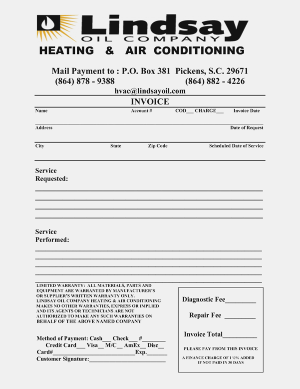 Nice Hvac Service Invoice Template Free Images >> Invoicing Format With Hvac Invoice Template