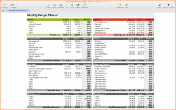 Numbers Budget Spreadsheet As Spreadsheet App Spreadsheet Template To Budget Spreadsheet App