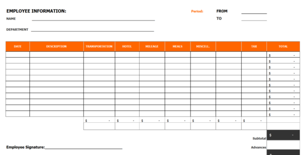 Office Expense Report Template   28 Images   8 Microsoft Office Inside Office Expense Report