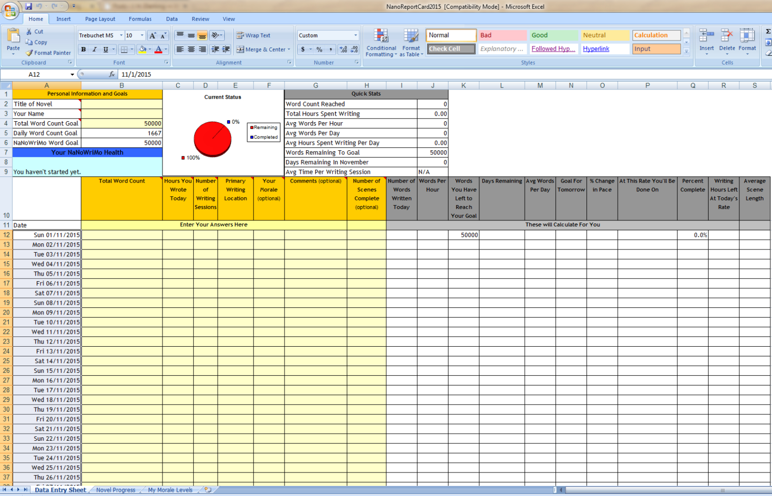 On Writing: Word Count Spreadsheets | J. H. Dierking Intended For Word Spreadsheet