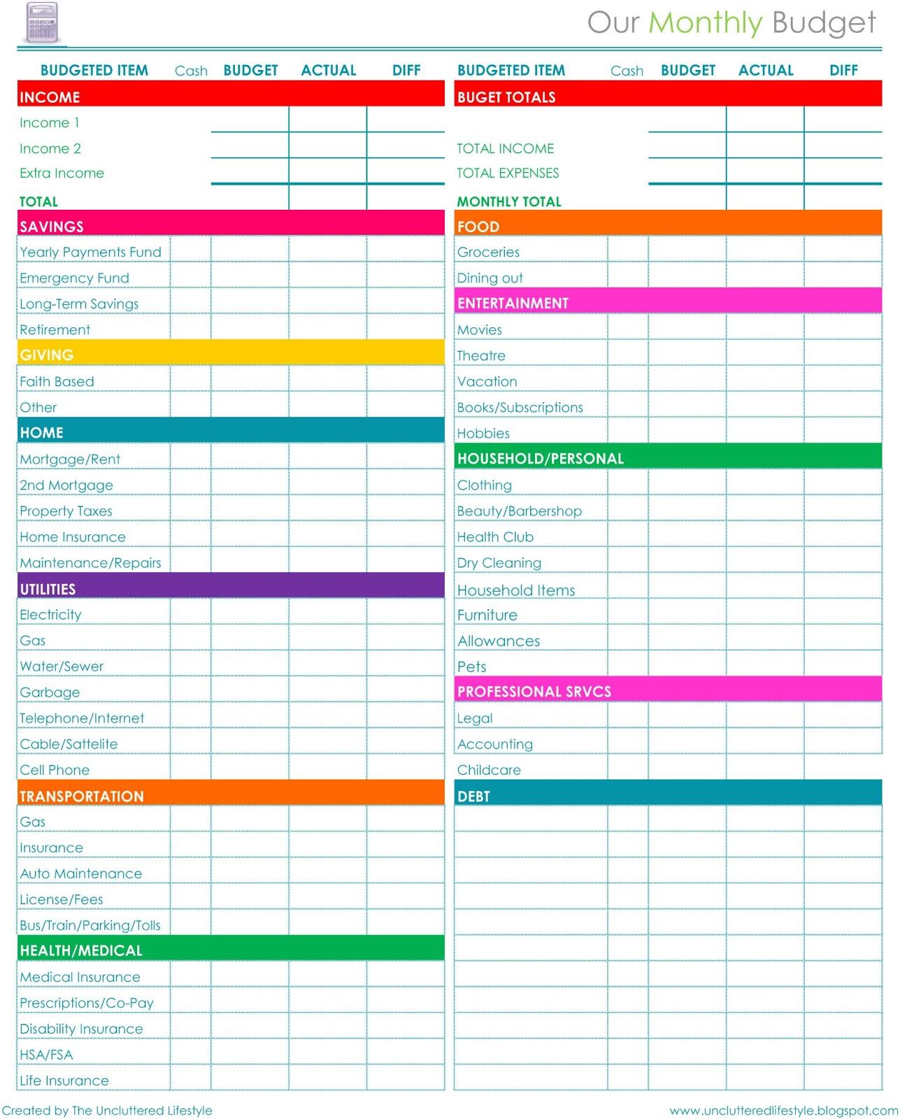 Online Budget Spreadsheet - Durun.ugrasgrup with Budget Calculator Free Spreadsheet