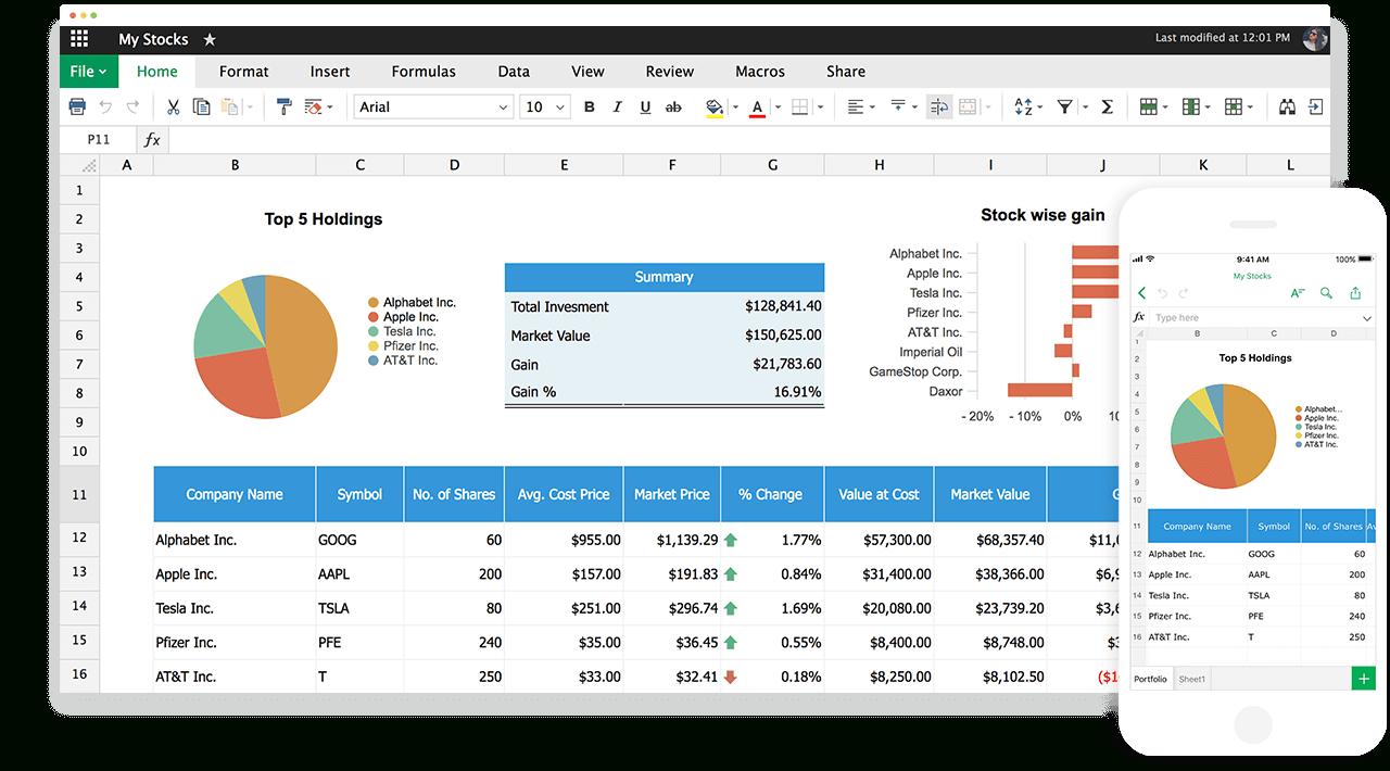 Online Spreadsheet Maker | Create Spreadsheets For Free   Zoho Sheet In Online Spreadsheet Software