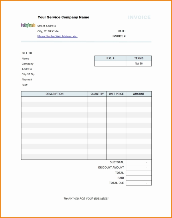 Open Office Invoice Template Free Inspirational Excel Word Dummy Within Open Office Invoice Templates