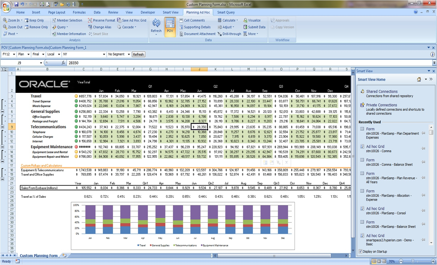 Oracle Smart View For Office | Business Intelligence | Oracle With Spreadsheet Database Software