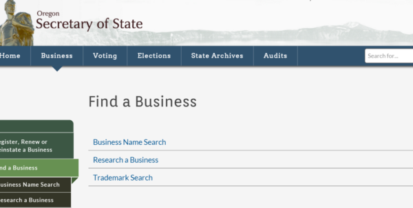 Oregon Business Entity And Corporation Search   Or Secretary Of For Hawaii Corporation Search