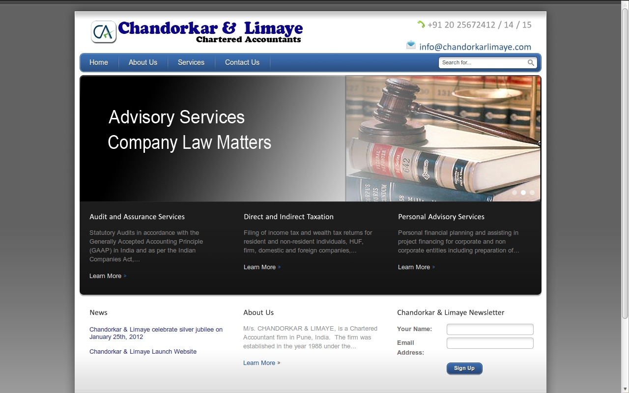 Our Portfolio Services In London, Mumbai, Pune, Nagpur, Aurangabad Inside Chartered Accountants Website Templates