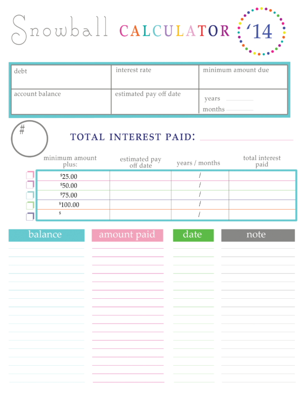 Paying Off Debt Worksheets To Spreadsheet For Paying Off Debt