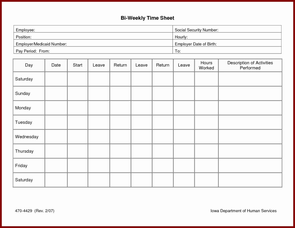 Payroll Timesheet Template   Presscoverage And Payroll Weekly Timesheet Template