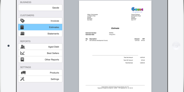 Pdf Invoicing For Ipad, Iphone And Mac | Easy Invoice Inside Invoice Templates For Mac