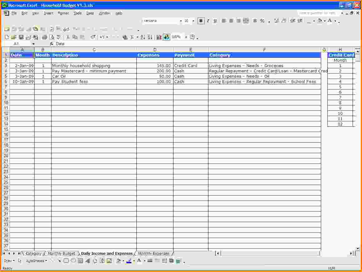 Personal Expenses Spreadsheet On Spreadsheet Templates Spreadsheet For Personal Accounting Spreadsheet Template