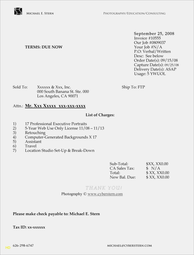 Photography Invoice Format Photography Receipt Template : Free With Photography Invoice Template