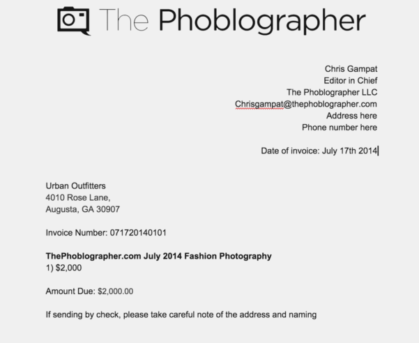 Photography Invoice Template Will | Invoice And Resume Ideas Throughout Photography Invoice Template