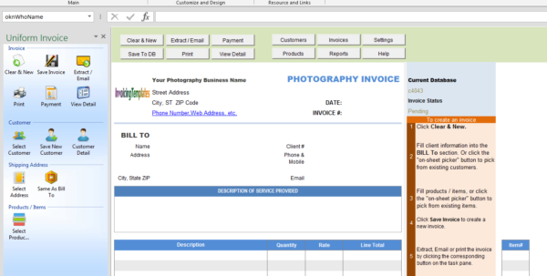 Photography Invoicing Template (General) Throughout Photography Invoice Template