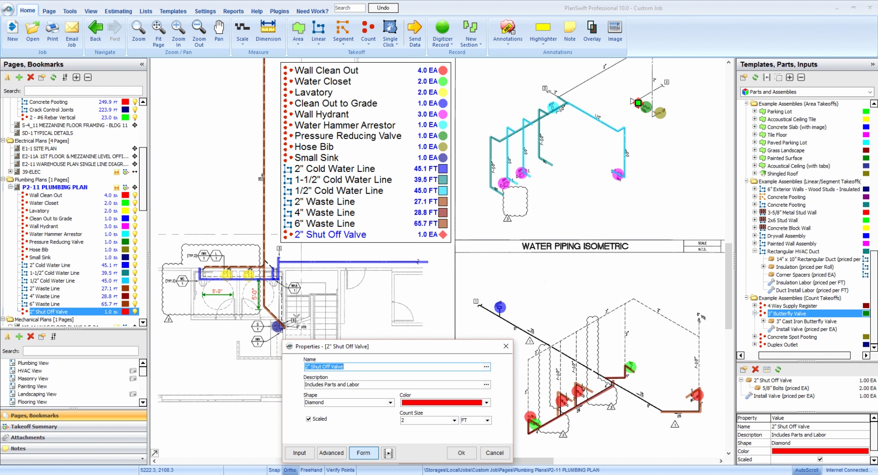 Piping Takeoff Spreadsheet Unique Plumbing Estimating Software With Piping Takeoff Spreadsheet