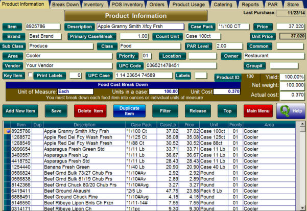 Pos System For Inventory Control And Restaurant Menu Templates. Inside Inventory Tracking Templates