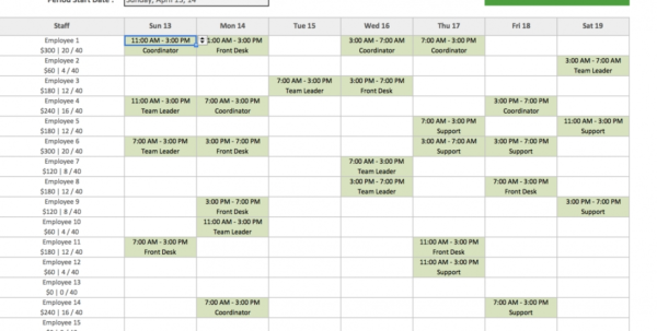 Premium Employee Shift Scheduling Spreadsheet ~ Premium Worksheet Throughout Employee Shift Scheduling Spreadsheet