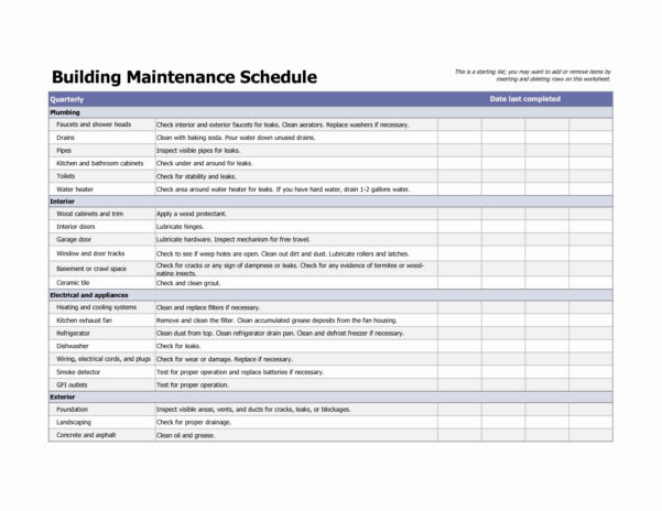Preventive Maintenance Excel Template Lovely Spreadsheet Examples With Home Maintenance Spreadsheet