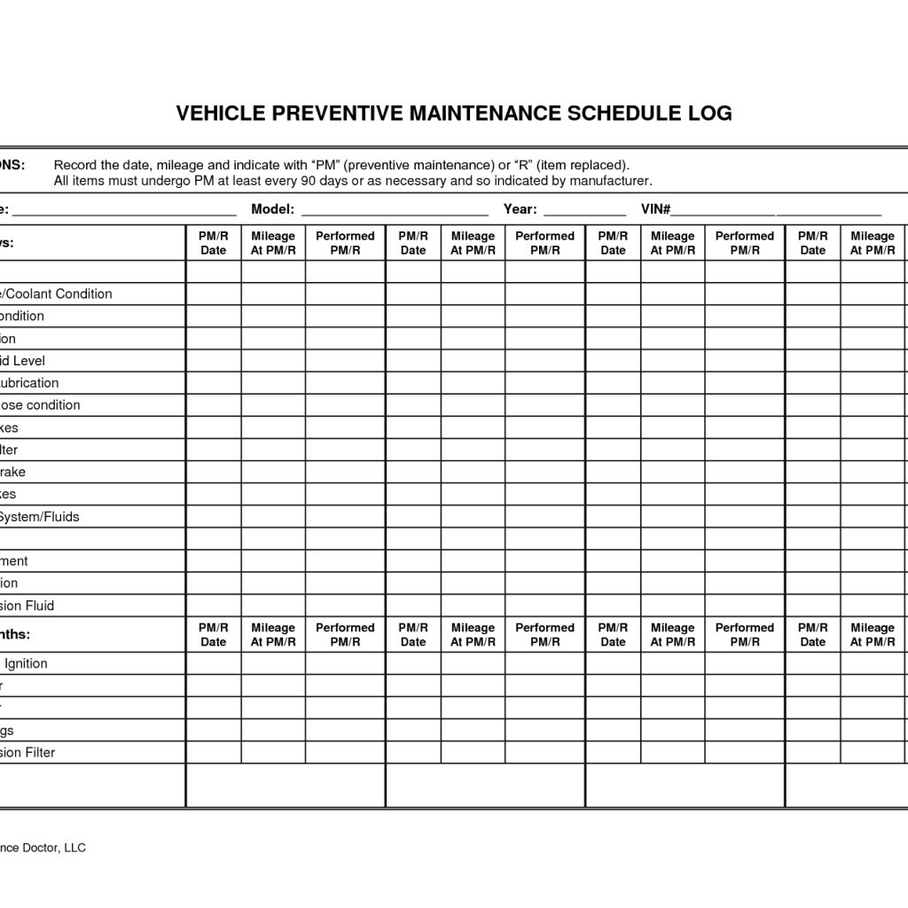 Preventive Maintenance Templates Free | Fern Spreadsheet For With Preventive Maintenance Spreadsheet