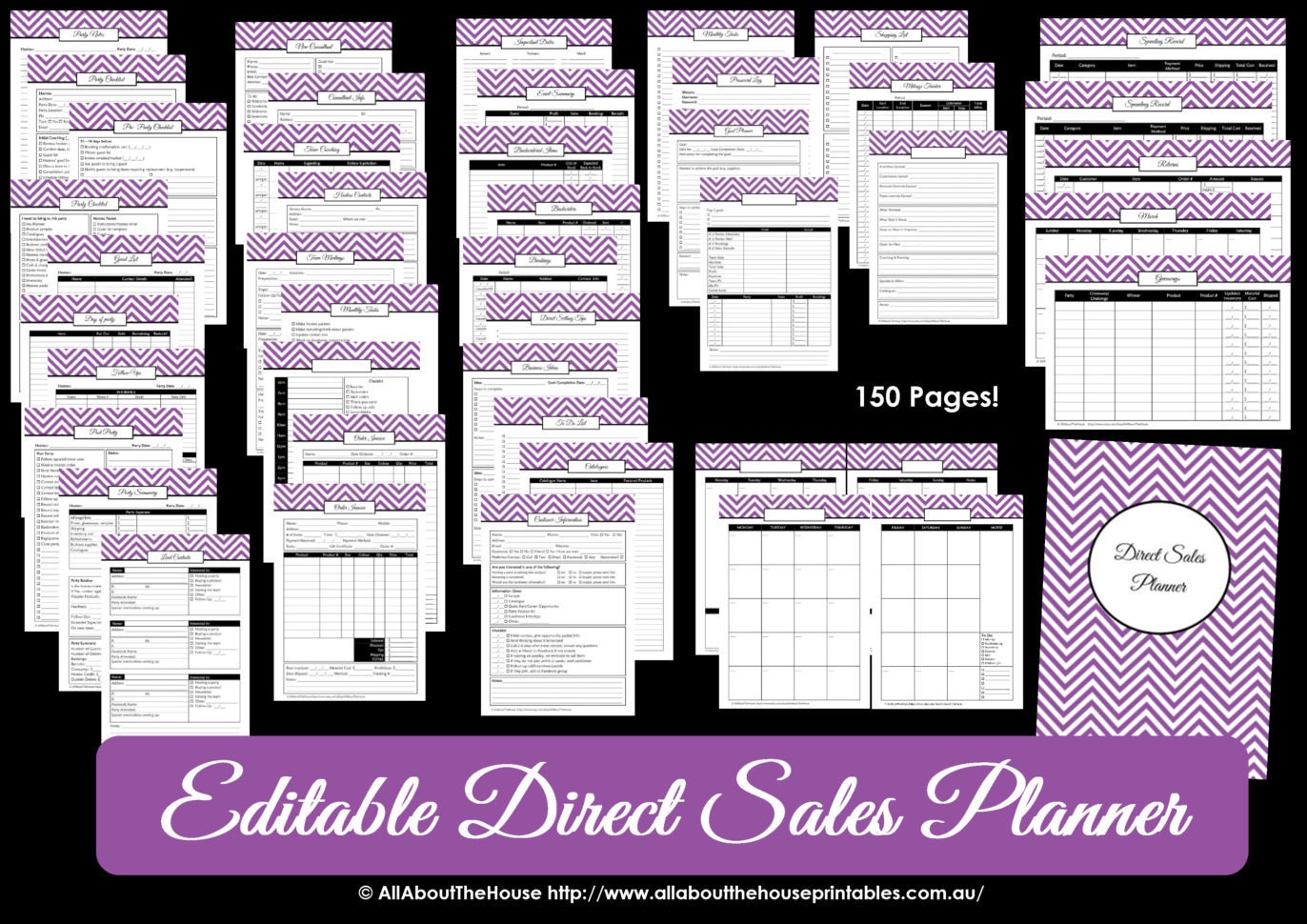 Printable Direct Sales Planner – Editable And Mary Kay Inventory Tracking Sheet