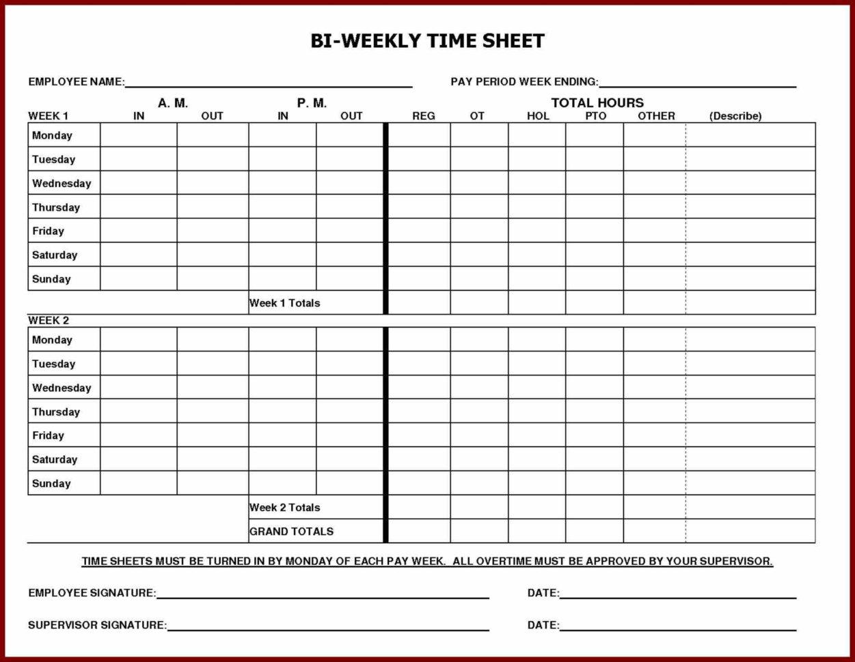 Printable Employee Time Sheet   Durun.ugrasgrup Within Payroll Timesheet Template