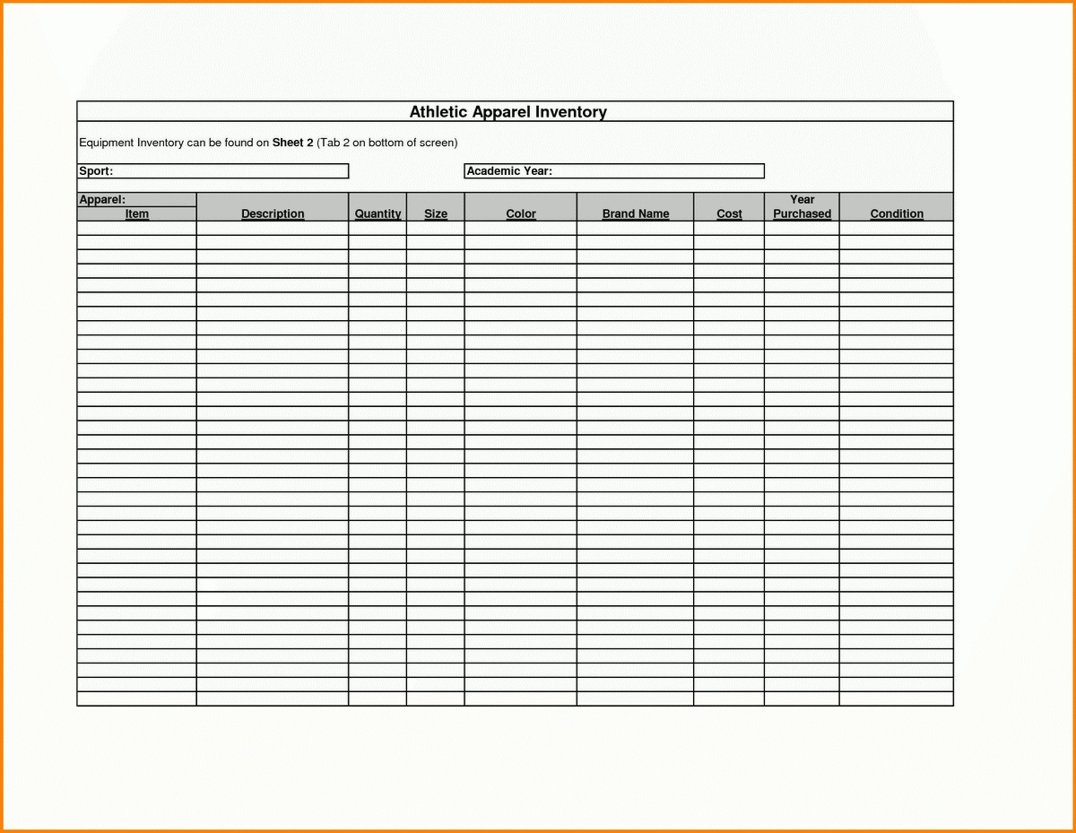 Printable Inventory Template – Emmamcintyrephotography For Printable Inventory List Template