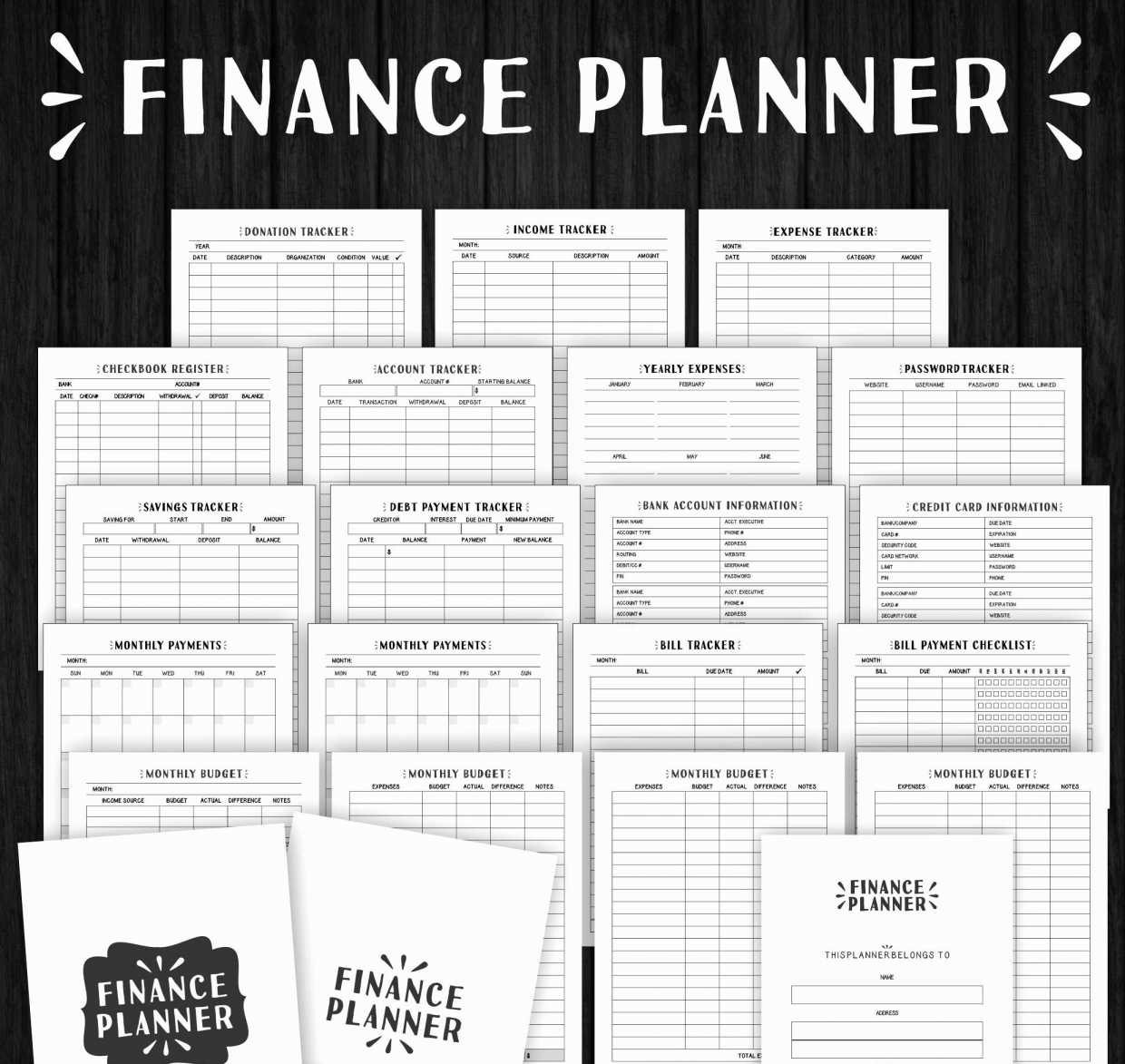 Printable Monthly Budget Planner Template Monthly Bill Planner And Monthly Financial Planning
