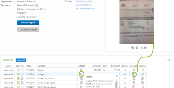 Processing Expense Reports – Certify Help Center With Company Expense Report